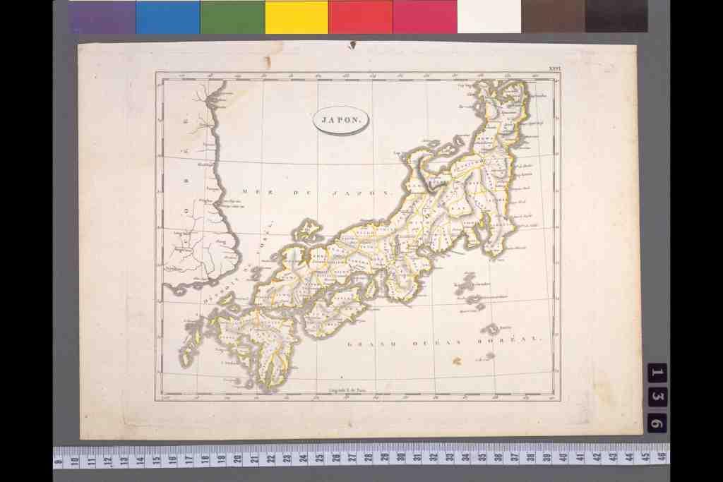 西洋古版日本地図一覧 - カラー